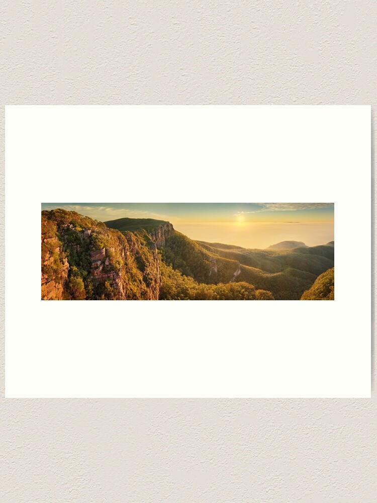 Alternate view of Mt William from Mitchell Plateau, Grampians, Victoria, Australia Art Print