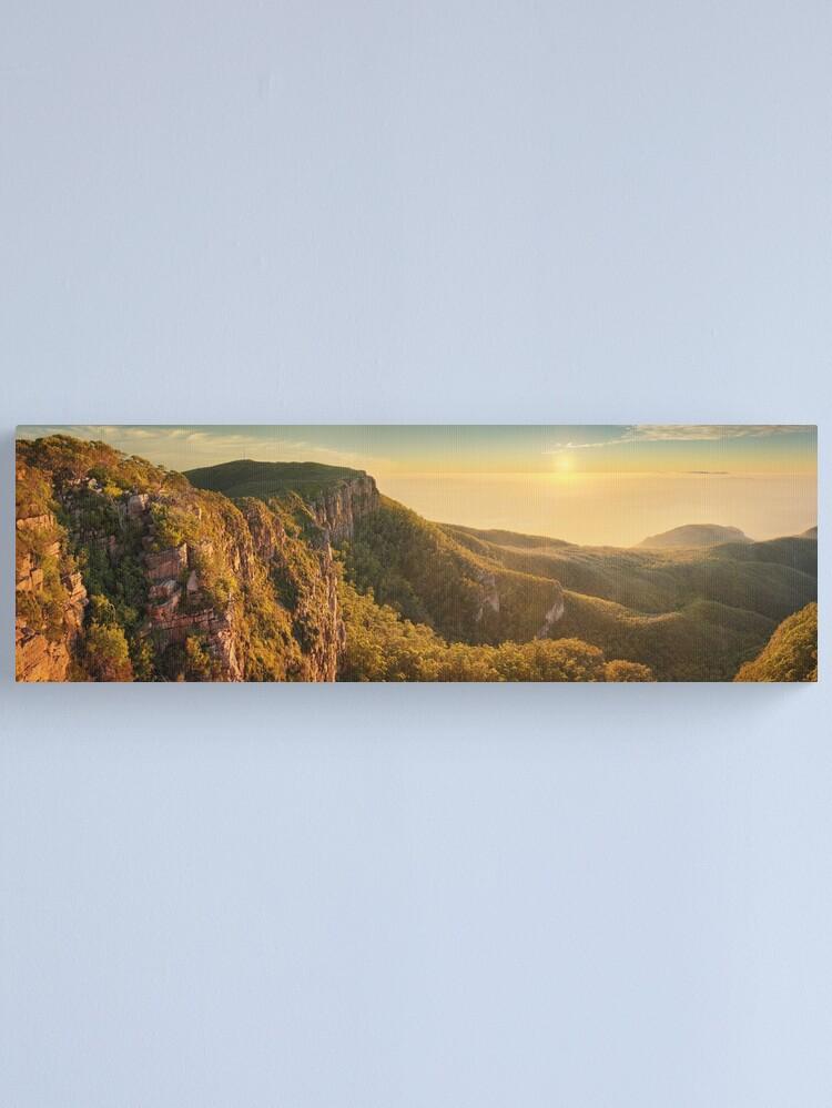Alternate view of Mt William from Mitchell Plateau, Grampians, Victoria, Australia Canvas Print