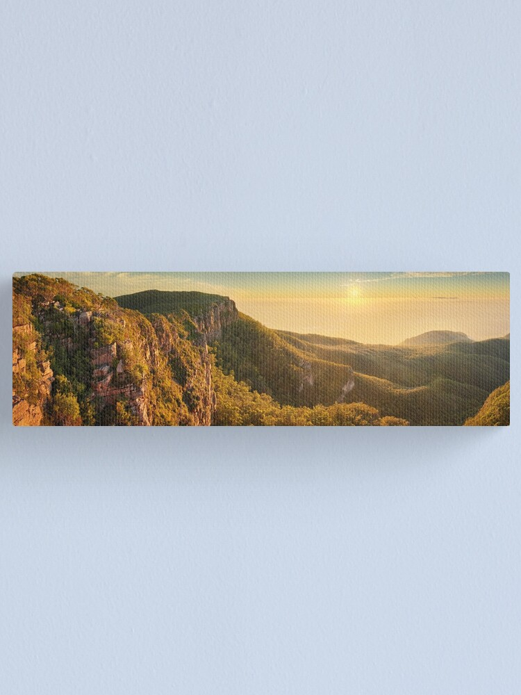 Alternate view of Mt William from Mitchell Plateau, Grampians, Victoria, Australia Canvas Print