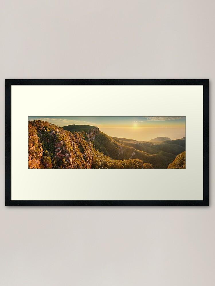 Alternate view of Mt William from Mitchell Plateau, Grampians, Victoria, Australia Framed Art Print