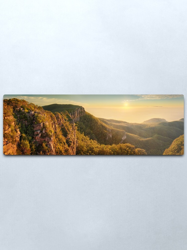 Alternate view of Mt William from Mitchell Plateau, Grampians, Victoria, Australia Metal Print