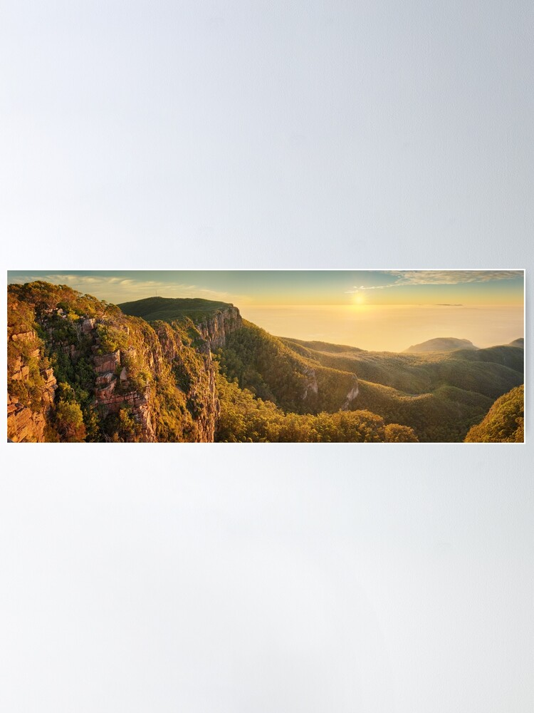 Alternate view of Mt William from Mitchell Plateau, Grampians, Victoria, Australia Poster