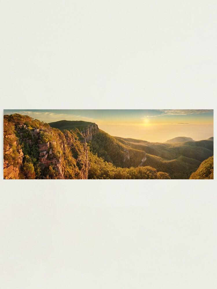 Alternate view of Mt William from Mitchell Plateau, Grampians, Victoria, Australia Photographic Print