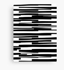 Organic No. 11 Black & White #minimalistic #design #artprints #redbubble  Canvas Print