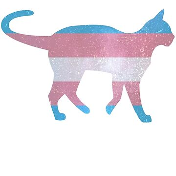 Trans pride cat by kittykarnstein