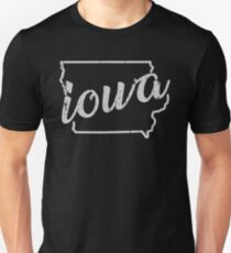 SWEET HOME IOWA - TRENDY STATE OUTLINE DESIGN Unisex T-Shirt