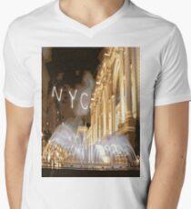NYC FOUNTAIN Pop Art Men's V-Neck T-Shirt