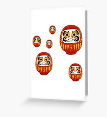 Daruma 2 Greeting Card