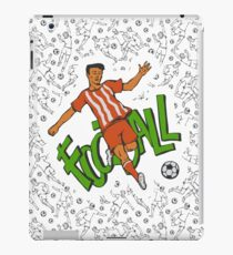 Soccer going penalty kick ball and seamless pattern. iPad Case/Skin