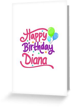 Tarjetas De Felicitacion Feliz Cumpleanos Diana De Pm Names