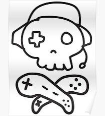 The Kick-Ass Gamer Show Drawing Logo Poster