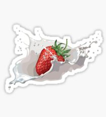 Summer time = strawberry time Sticker