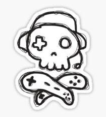 The Kick-Ass Gamer Show Sketch Logo Sticker