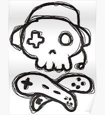 The Kick-Ass Gamer Show Sketch Logo Poster