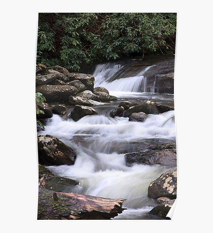 Smoky Mountain Cascades Poster