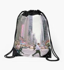New York avenue Drawstring Bag
