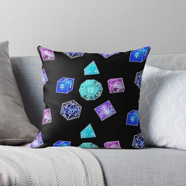 Neon dice Throw Pillow