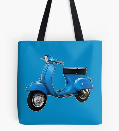 Scooter T-shirts Art: Small Frame Hot Rod scooter  Tote Bag