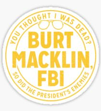 Parks and Rec Burt Macklin FBI Sticker