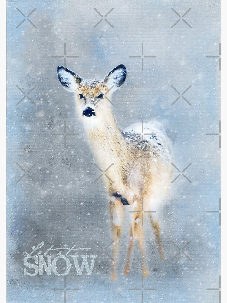 «Biche dans la neige» par Amanda-Lakey