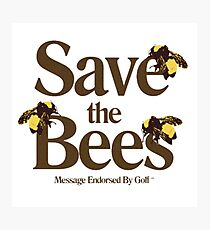 Save the Bees Photographic Print