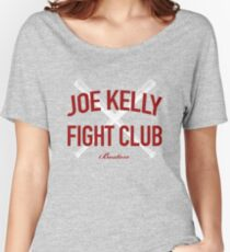 Red Tee Joe Kelly Fight Club Shirt for Boston Fans Women's Relaxed Fit T-Shirt