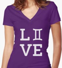Love Gemini Zodiac Birthday Horoscope Womens Fitted V Neck T Shirt