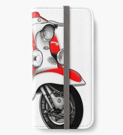 Scooter T-shirts Art: TV 175 Series 1 Mod style racer. iPhone Wallet