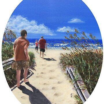 Beach Walk by ArtbyDedeConrad
