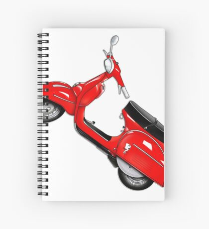 Scooter T-shirts Art: SS 180 Scooter Design Spiral Notebook