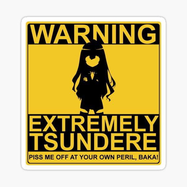 Tsundere Warning!!! Sticker