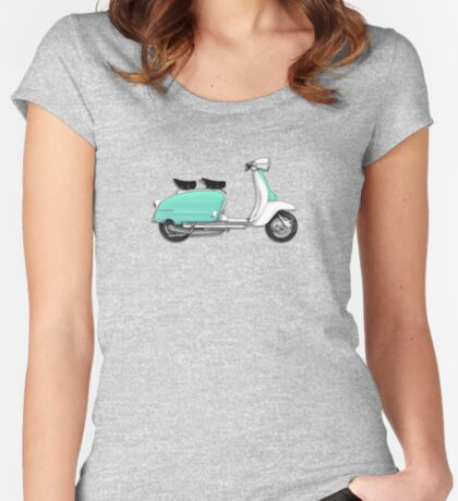 Scooter T-shirts Art: 1960s Li 125 Series 3 Innocenti Scooter Design Women's Fitted Scoop T-Shirt