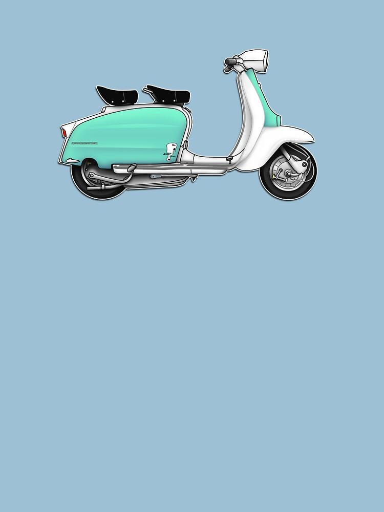 Scooter T-shirts Art: 1960s Li 125 Series 3 Innocenti Scooter Design by yj8dsk57