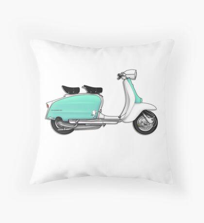 Scooter T-shirts Art: 1960s Li 125 Series 3 Innocenti Scooter Design Throw Pillow
