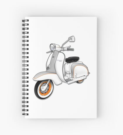 Scooter T-shirts Art: 1961 Series 2 Li 150 Scooter Design Spiral Notebook