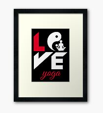Love yoga Framed Print