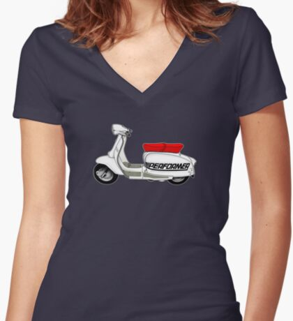 Scooter T-shirts Art: Jet200 Performer Scooter Design Women's Fitted V-Neck T-Shirt