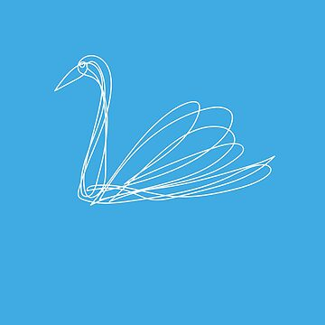 Swan on a blue by Mila-Che