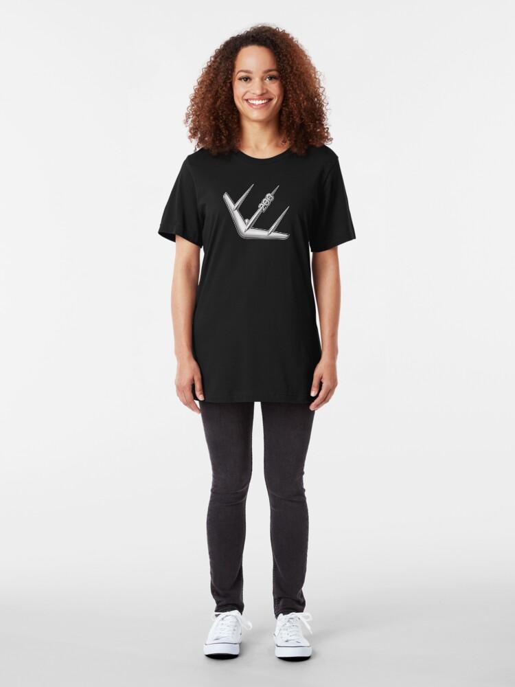 Alternate view of Scooter T-shirts Art: SX200 Logo Design Slim Fit T-Shirt