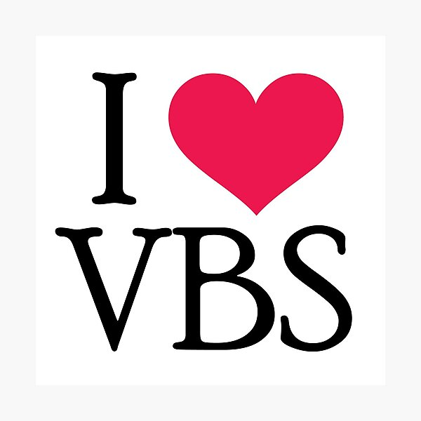 I (heart) VBS Photographic Print