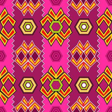 Abstract Pink Purple Artistic Pattern  by kbasandra