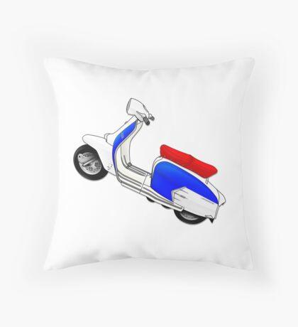 Scooter T-shirts Art: SX200 Dealership Blue Scooter Design Throw Pillow