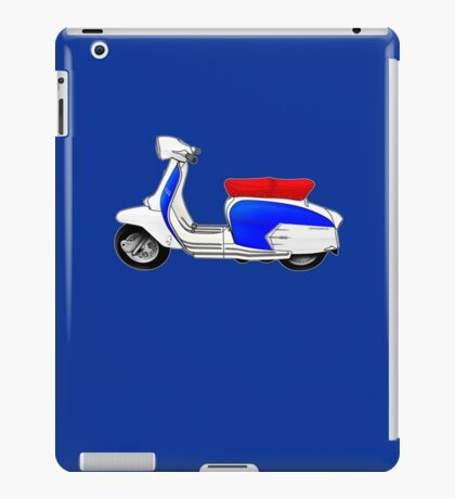 Scooter T-shirts Art: SX200 Dealership Blue Scooter Design iPad Case/Skin