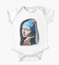 Robot with a Pearl Earring  One Piece - Short Sleeve