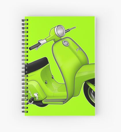 Scooter T-shirts Art: J50 Deluxe Scooter Design Spiral Notebook
