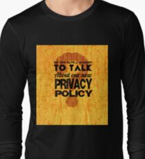 Privacy Policy Bonanza Long Sleeve T-Shirt