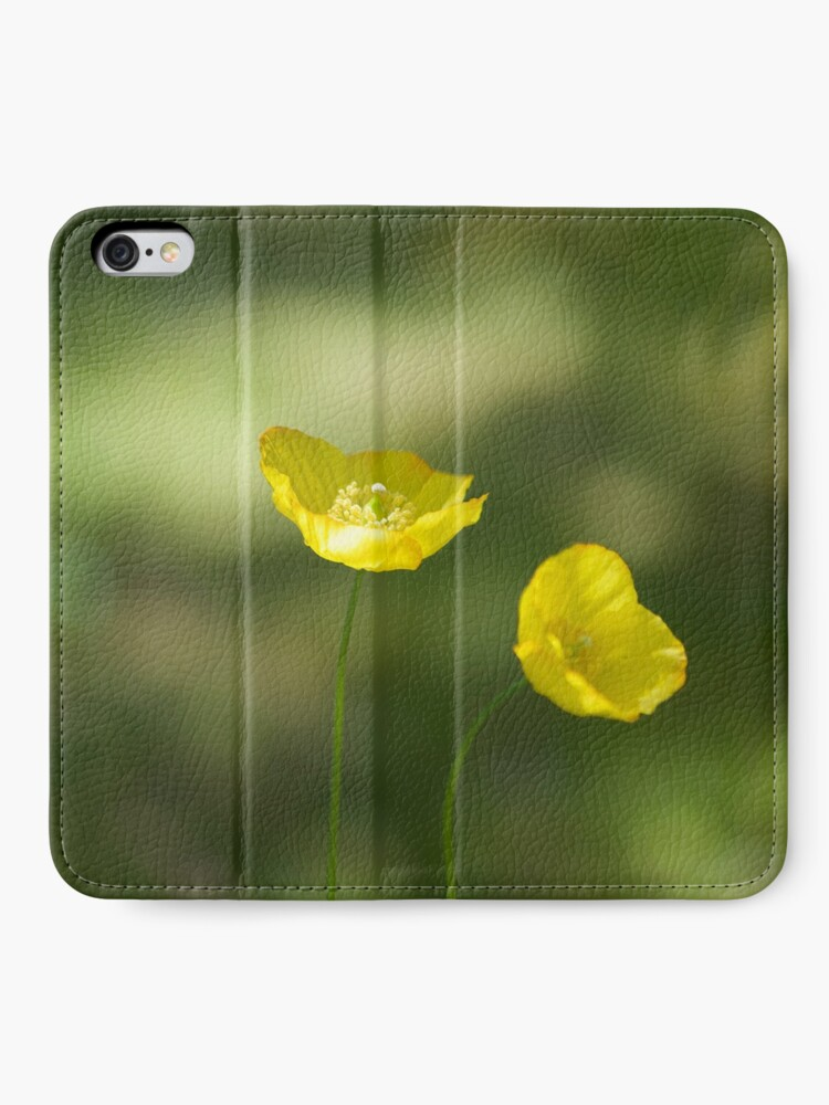 Alternate view of Poppies iPhone Wallet
