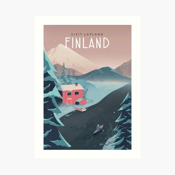 Finland Travel Art Art Print