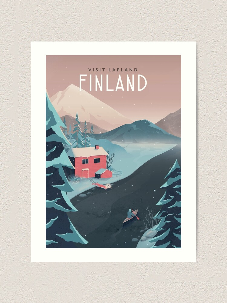 Alternate view of Finland Travel Art Art Print