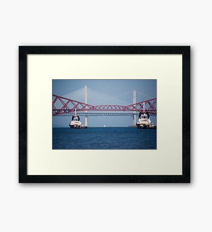 Three Bridges & Boats Framed Print